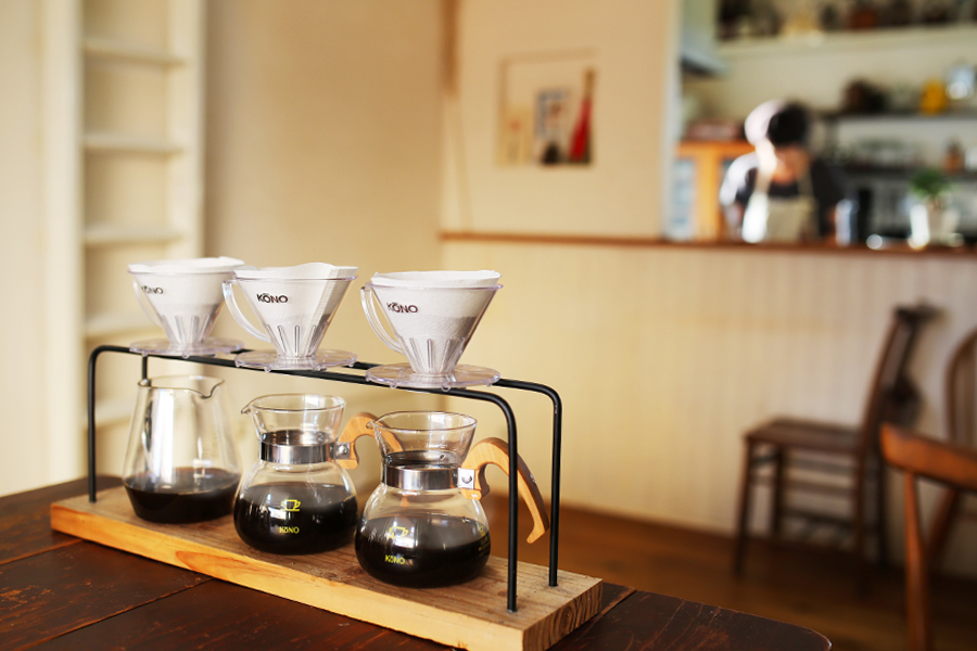 アルパカコーヒー風景